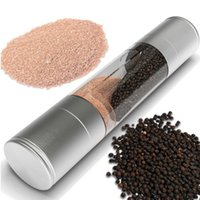 Wholesale Manual Salt and Pepper Mill in Stainless Steel Pepper Salt Herb Mill Grinder Gourmet Cooking Set Kitchen