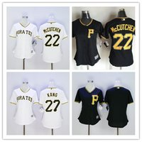 andrew mccutchen shirts - Women Pittsburgh Pirates Andrew McCutchen Jung Ho Kang Blank Female Baseball Jerseys White Black Lady Shirt Cheap