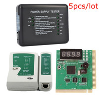 Wholesale 5pcs Universal PC Computer Network Test Kit Motherboard POST Analyzer Cable Computer Power Supply Tester Networking Tools NET_00G