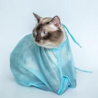 bath mesh bag - Candy colors Multifunctional cat Grooming bag cat bags bath bags fitted mesh bag cat clean pet supplies WA0718