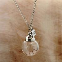 Wholesale hot New Fashion Pendant charmful Real Dandelion Seed Wish bottle Dandelion Necklace Jewelry gift