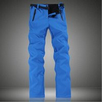 Wholesale Winter Fleeces Skiing Pants Thermal Outdoor Sport Pants Women Blue Hiking Snowboard Trousers High Waterproof Pants Gray