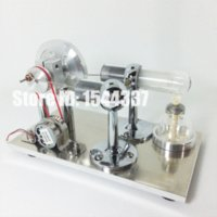 Wholesale 2015 New Hot Air Stirling Engine Model Power Electricity Generator with LED Light and Burner Holder