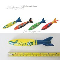 Wholesale Free DHL Glides Under Water Underwater Torpedo Rocket Swimming Pool Toy Swim Dive Sticks Holiday Games Water Fun games Set
