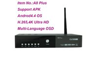 Wholesale High quality Android4 TV BOX A8plus Hi3796 Fully Compliant with MPEG k H kodi16 APK IPTV DVB S T2 C smart media player