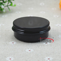Wholesale g black color aluminum tins ml aluminum jars for cosmetics candle cream mask bath salt