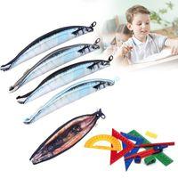 Cheap Real Fish-like Zipper Pen & Make-up Pouch Pencil Pen Case Funny Rare Storage Box Storage Box Cosmetics E5M1