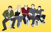 american tricycle - 24X36 INCH ART SILK POSTER Always Sunny in Philadelphia Drawing Tricycle vector tv humor funny comedy actors actress