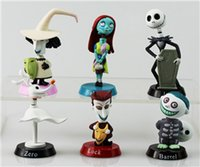 best animations - Best selling styles The Nightmare Before Christmas Henry Selick Clay Animation Jack Sally Shock Lock Zero Head Knock Bobble Head Figure Toy