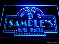 bars theater - DZ009 b Name Personalized Custom Home Theater Bar Neon Sign