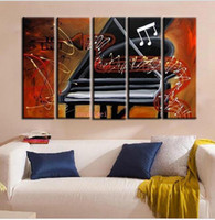 abstract piano - Handmade Picture On Canvas Abstract Music Oil Painting No Frame For Room Wall Deocr Art Piano Pictures Hotel KTV Dancer Decor