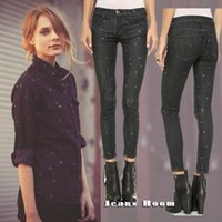 Wholesale current elliott mini stiletto star mini black jeans pencil pants