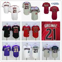 baseball supplies - 2016 New Zack Greinke Arizona Diamondbacks Mens Baseball Jerseys Purple Gray White Red Black Supply
