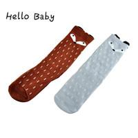 baby converse shoes - 2016 Christmas Baby Socks Anti Slip Winter Girls Cartoon Animal Cotton Long Knee Shoe Infant Socks Warmer For Kids Bebe