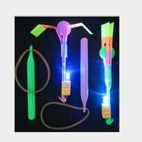 Wholesale Wholesale100pcs2016 Novelty Children Toys Amazing LED Flying Arrow Helicopter for Sports Funny Slingshot birthday party supplies Kids Gift