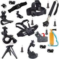 Accesorios completos de la cámara para la cámara de acción de Sony AS20 AS15 AS100V AS30V AZ1 Equipo al aire libre del recorrido con la correa de la cabeza del pecho de Selfie +