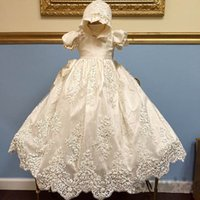 baby blessing dresses - Gorgeous White Ivory Baptism Rope Christening Dress Baby Girls Boys Toddler Long Blessing Gowns With Bonnet