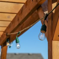 ac light technologies - DHL Waterproof Commercial Outdoor Christmas Lights with Hanging Sockets Weather Tite Technology W S14 Incadescent Bulbs