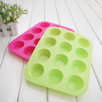 Wholesale Silicone Non Stick Cup Maker Tray Muffin Pan Baking Jelly Mold Mould Tool
