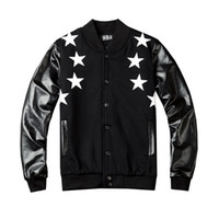 Wholesale Mens Letterman YEECY Baseball Uniform Fashion Sports Cotton PU Jacket Coat Black Color SPORTS FOOTBALL Uniform Jacket Jersey
