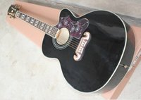 Wholesale Factory price E inches missing Angle folk acoustic guitar Black body