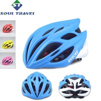 bicycle travel covers - Soul Travel Vents Bicycle Helmet Cover Mtb PC EPS Men Women Adult Moutain Road Bike Helmets Cycling Kask Capacet Bicicleta