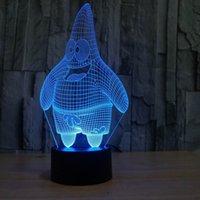 3D оптическая иллюзия светодиодные лампы Night 7 Красочный светодиодные Ультра-тонкий акриловые световой панели DC 5V завод Оптовая