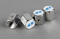 Wholesale DHL Lockable VW R Anti Theft Dust Cap Tire valve caps With Car Logo Badges Emblems VW R With Retail Box