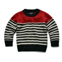 Wholesale children boys striped knitted pullover sweaters kids fashion cotton casual fall winter long sleeve crew neck sweater clothes