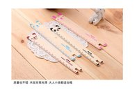 Wholesale Cute Animal Wooden Ruler Student Prizes Korea Creative Stationery cm Rulers For School Supplies