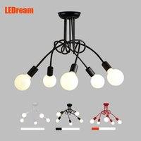 Wholesale LEDream Creative Black white holders E27 with bulbs ceiling lamp vintage personality modern brief led ceiling light