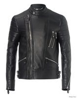 100% leather jackets - 2016 PP Balmain men s casual cotton Men s Casual leather jackets Robin leather jacket men s T shirt PP Casual leather jacket P F33