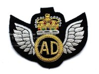 ads silk - The new military badge embroidery metal spot AD CM