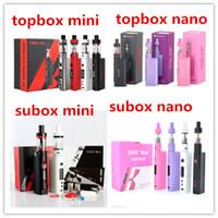 Wholesale Kanger Topbox Mini W TC Starter Kit with KBOX Mini Box Mod vs Kanger Topbox Nano Subox Mini Subox Nano Kit