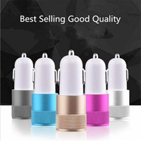 amp shipping - Best Metal Dual USB Port Car Charger Universal Volt Amp for Phone Pad Pod etc GIFT