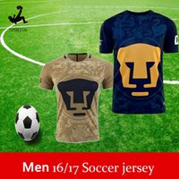 Wholesale Thailand Quality Mexico club Pumas UNAM Home Gold Away blue soccer jerseys camisetas de futbol Cougar Pumas UNAM football Shirts