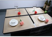 Wholesale 4 Placemat fashion pvc dining table mat disc pads bowl pad coasters waterproof table cloth pad slip resistant pad