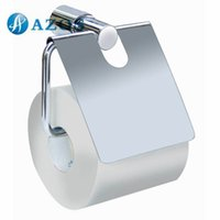 Wholesale AZOS Wall Mounted Toilet Paper Holders Chrome Polish Finish Silver Color Toilet Accessories Bathroom Shower Hardware Components GJYB8707