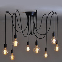 Wholesale Hardwired Vintage Soft Pendant Light Edison Industrial Chandelier with Soft Bar Restaurant Bedrooms E27 Art Pendant lamp