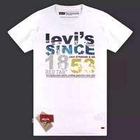 Wholesale 6 Colors Choose Levi s pure cotton fashion sports Clothing cloth Quick Dry GEL man s TShorts