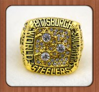 Cheap Free shipping! 1979 Super Bowl Replica PS Championship RingGold Plated World Series Alloy Rings For Men Collection