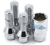 alloy wheel lock nuts - Top Selling Wheel Lock Nuts Set M14x1 Silver Car Alloy Nuts for Your Car Styling Anti theft Nuts