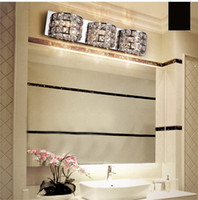 as described  bathroom wall mirror cabinets - Morden Crystal Chrome Bathroom Wall Light Mirror Front wall lamp Corridor Cabinet wall lightight fixtures Silver Chrome washroom wall Lights