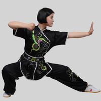 Wholesale Chinese Wear For Women - Customize Chinese wushu uniform Kungfu clothes Martial arts wear taolu outfit taichi garment changquan costume for men women boy girl kids