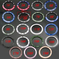 Wholesale Red Black Blue Green Ceramic Titanium Bezel Fit GMT Automatic Watch Support Retail And p349