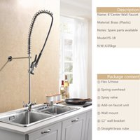 Wholesale 8 Center Wall Mounted Faucet Kitchen Tap Water Faucet Brass