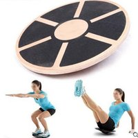 balance board wood - Antislip Wood Balance Board Multipurpose Fitness Trainer Strength Training Equipment
