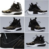 baseball media - Drop Shipping Cheap Famous Acronym Air Presto MID Medium Olive Dust Black Mens Running Shoes Athletic Sneakers Size
