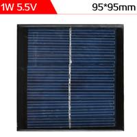 Compra Silicio w-ELEGEEK 5pcs / lot 1W 5.5V 95 * 95m m Resina epoxi Encapsulated la célula solar del silicio policristalino para el cargador de DIY - NEGRO