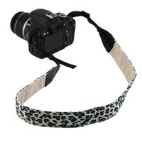 Wholesale Personized Universal Leopard Pattern Camera Shoulder Strap Neck Sling Belt Cotton For Canon Nikon Sony SLR DSLR